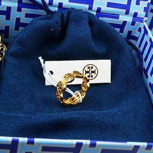 Tory Burch Fashion Cutout Logo Ring